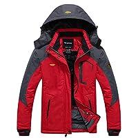 wantdo women's anorak waterproof mountain jacket fleece windproof ski jacket