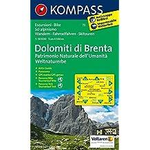 Carta escursionistica n. 73. Trentino, Veneto. Gruppo di Brenta 1:50.000