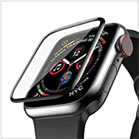 FAILEAS IWatch Series 4/5/6 44MM Latest Generation Curvy boder Glass membran PMMA Film Clear with Built-in 9H Hardness…