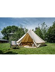 5m Bell Zelt W mit Reißverschluss Bodenplane. 100% Baumwolle. Große Familie Zelt. Bell Zelt für Camping. Bell Zelt für den Garten. Hervorragende Wert.