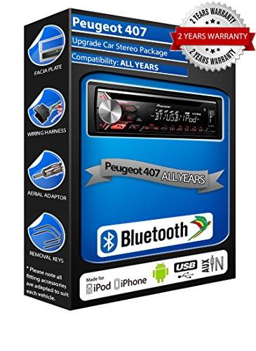 Peugeot 407deh-4700bt estéreo del coche, USB, CD, MP3AUX en kit bluetooth