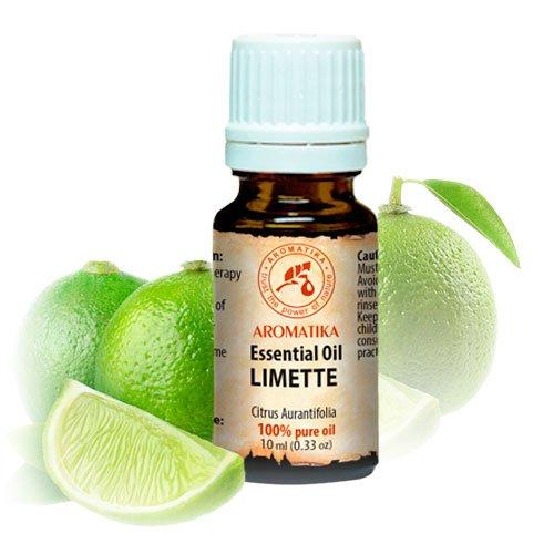 Limettenöl Ätherisch 10ml - Citrus Aurantifolia - Mexiko - 100% Reine & Natürliche Ätherische Öle Limette für Beauty - Aromatherapie - Duftlampe - Raumduft - Lime Öl (Wahrnehmung Erotische)