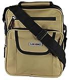 New Large Mens Ladies Handbag Bag Work Travel Cross Body Shoulder 4 Zips Bag (Beige)