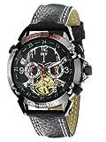 Calvaneo 107630 - Orologio da polso, cinturino in pelle colore nero
