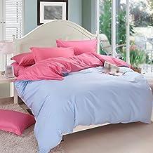 Juego de cama Color puro 100% Algodón Edredón Color Opcional Cama Individual Edredón 1.35m Cama ( Color : D )
