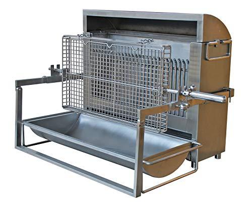 SPIT-ROAST Grill, Edelstahl, vertikal, 600 mm