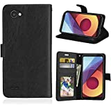 For LG Q6 Case, [Extra Card Slot] Codream [Wallet Case] PU Leather TPU Casing Leather Case [Drop Protection] Case Compatible With LG Q6, Black