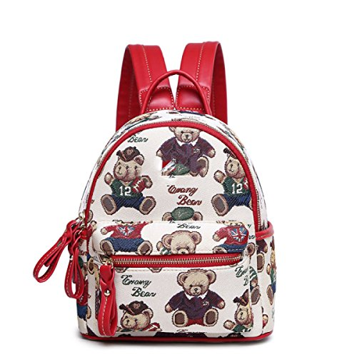 Yy.f Orso Borse Fissaggio Tracolla Tessuto Jacquard Mini Pacchetto Sacchetti Signora Piccola Borsa A Tracolla 2 Colori Red