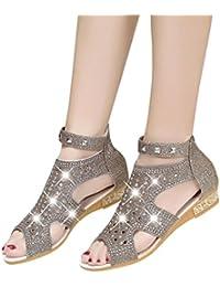 04e95c37b9d7b Xinxinyu Sandales Chaussures Femme ❤ Mode Bouche de Poisson Ete Sandales  Femmes Tongs Plateforme Chaussures