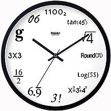 La fórmula matemática relojes reloj de cuarzo de arte creativo del reloj reloj silencio sala digital concept,20 cm,negro