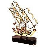 BrassCityOnline Messing Viking Nautisches Visitenkarte von Segeln Modell Piratenschiff mit Sockel aus Holz, beste Geschenk Artikel, Home und Office Décor, 31cm/1.085kg
