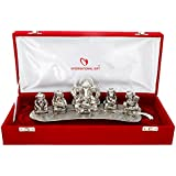 International Gift Silver Plated Musical Ganesha God Idols With Velvet Box Exclusive Gift For Diwali Gift, Corporate Gift And Wedding Return Gifts