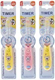 b-brite Club Schönheit blinkende Timer Handzahnbürste für Kinder–Pack von 3
