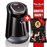 Arzum OKKA Minio Kaffeemaschine Schwarz Bronze + Pala Efendi Türk Kahvesi GRATIS DAZU