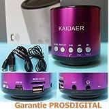 SON DE BASSE EXTRA PUISSANT: KAIDAER PRO. 2ème Génération, Bluetooth + Main libre -VIOLET