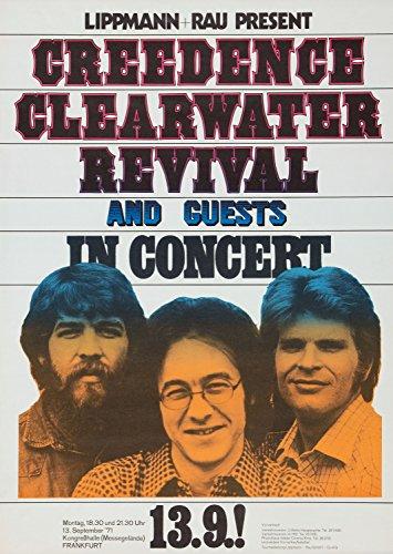 Creedence Clearwater Revival Foto-Nachdruck eines Konzertposters 40x30cm