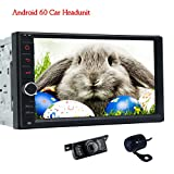 Vorne Kamera & Kamera enthalten. Doppel 2 DIN Android 6.0 Auto Stereo System in Dash Autoradio Bluetooth 1080P Video Audio KFZ AM/FM/RDS Radio BT SWC Screen Mirroring (kein DVD player)