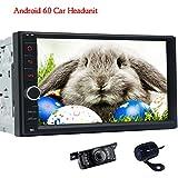 Cámara frontal y cámara de visión trasera incluidos! Doble 2 din Android 6.0 Sistema estéreo del coche de la rociada con Bluetooth Autoradio 1080P Car Audio AM / RDS BT SWC Pantalla / FM Mirroring (n reproductor de DVD)