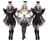 QIONGQIONG Halloween Dark Angel Kleid Kostüme Uniform Spiel Zombie Dress Weibliche Geister Braut Teufel Pack Weiß/Schwarz
