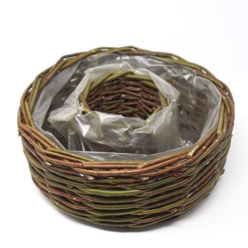 Pflanzring Rondino braun 35cm x 7cm Pflanzschale Kranz Ring zum Bepflanzen
