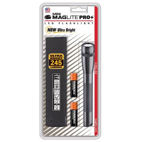 Mag-Lite Mini Pro+ LED Taschenlampe, 245 Lumen, ANSI Standard getest, titan-grau SP+P09H