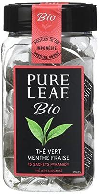 Pure Leaf Thé Vert Bio Fraise Menthe 45 Sachets (Lot de 3x15 Sachets)