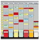 Franken PV1020 T-Kartentafel (OfficePlaner 7 Module 20 Schlitzen) 47.3 x 49 cm, hellgrau