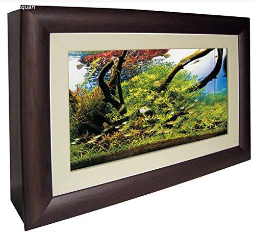 ACQUARIO QUADRO WALL AQUARIUM - Acquario in vetro da parete completo di struttura in legno apribile frontalmente. Completo di sistema di illuminazione, mini-filtro interno con portata regolabile, termoriscaldatore e timer digitale. - Acquario Sistema Di Illuminazione