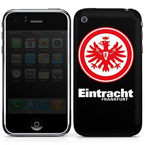 DeinDesign Apple iPhone 3Gs Folie Skin Sticker aus Vinyl-Folie Aufkleber Eintracht Frankfurt Fanartikel Fußball Wappen