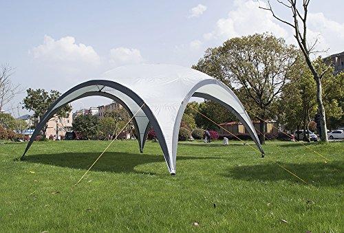 Chillroi Event Zelt Pavillon Partyzelt Fest Bier Garten 4,5x4,5m, Grau