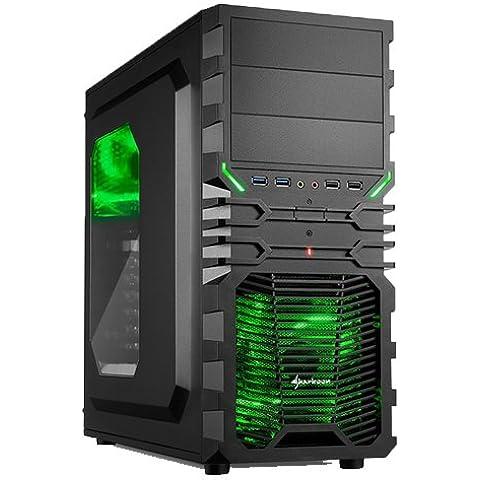 Ankermann-PC Raptorican, Intel Core i5-4690 4x 3.50GHz, Gigabyte GeForce GTX 660 WindForce 2GB, 8 GB DDR3 RAM, 2000 GB disco duro, DVD-RW Writer, sin sistema operativo, Card Reader, EAN