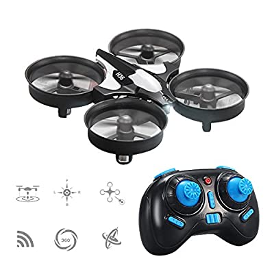 Mini UFO Quadcopter Drone ,Yunshangauto JJRC H36 LED Lights Nano Quadcopter RTF Drone for Beginner Headless Mode One Key Return Remote Control Aircraft