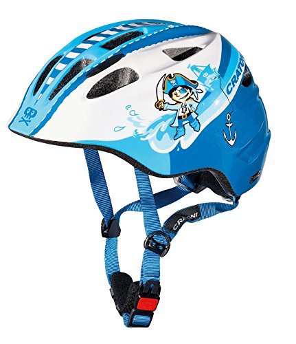Fahrradhelm Cratoni Akino (Kid), Gr. M (53-58cm) Pirat blau/weiß glanz