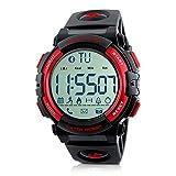 Beeasy Orologio Uomo Digitale Orologio Fitness 50M Impermeabili Smartwatch Sportivo Militare Orologio Bluetooth, Contacalorie, Contapassi, Cronometro, App per iOS e Android, Notifica SMS e chiamate