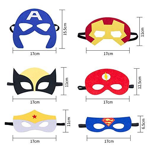 51ooMFyDFgL - Ventdest Máscaras de Superhéroe, Suministros de Fiesta de Superhéroes, Máscaras de Cosplay de Superhéroe, Máscaras de Media Fiesta para Niños o Niños Mayores de 3 Años - 32 Piezas