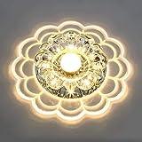 JZMB Plafonnier LED Atmosphère Minimaliste Moderne Plafonnier Rond Acrylique Cristal Clair Abat-Jour Élégant Allée Corridor Balcon Salon Éclairage de Plafond Ø20cm 5W Lumière tiède 3000K -