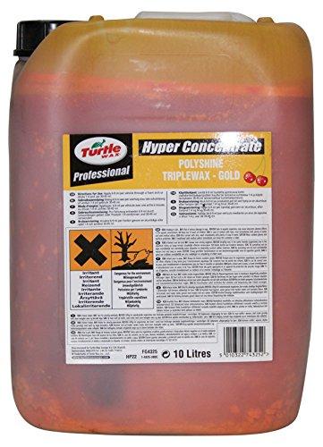 Turtle Wax fg4325hp22N Hyper Polyshine Triplewax, 10Liter, Gold (Hyper Wax)