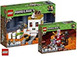 LEGO Minecraft 21145 Die Totenkopfarena Minecraft 21139 Nether-Abenteuer