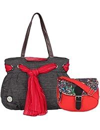 Anekaant Bare Cotton Shoulder Bag And Sling Bag Combo