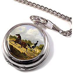 Horse and Gig by Herring Full Hunter Pocket Watch