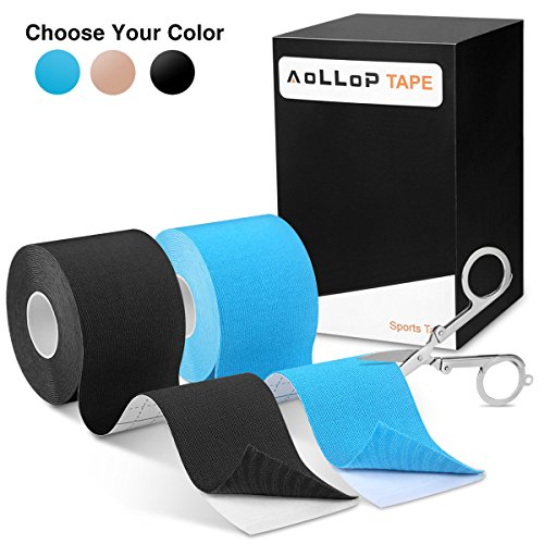 e Tape,Aollop Physio Tape sports Tape elastische Bandage ()