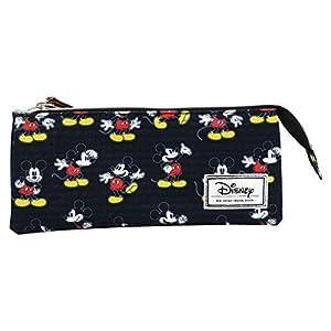 Disney Mickey Mouse Moving Estuche Portatodo con 3 Cremalleras Escolar Làpices de colores Necesser