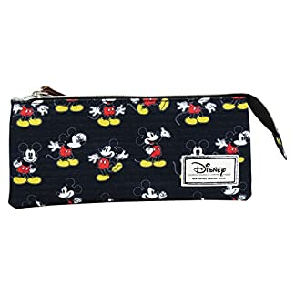 Disney Mickey Mouse Moving Estuche Portatodo con 3 Cremalleras Escolar Làpices de colores Necesser