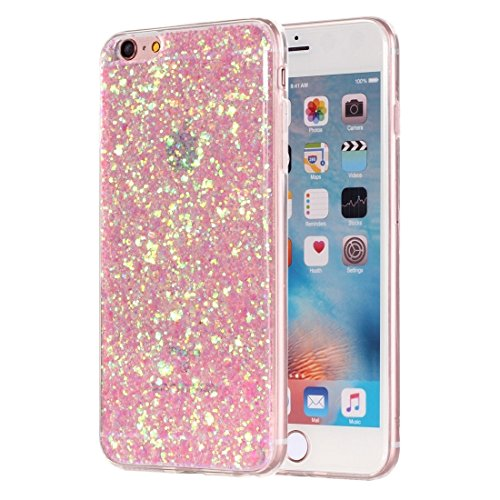 Phone case & Hülle Für iPhone 6 Plus / 6s Plus, Glitzer Powder Soft TPU Schutzhülle ( Color : Pink ) Pink