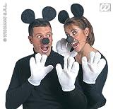 Sancto Comic Maus Kostüm-Set schwarz-Weiss Einheitsgröße