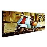islandburner Bild Bilder auf Leinwand Altes Vespa-Moped in China-Stadt KL Malasia Wandbild, Poster, Leinwandbild NLK