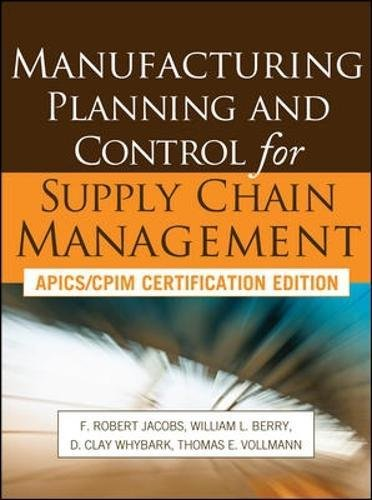 Manufacturing planning and control for supply chain management (Economia e discipline aziendali)