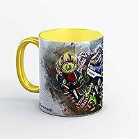GP-Tasse 02 – Valentino Rossi Barcelona Hang Off (Gelb)