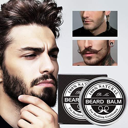 en Bart Balsam Wachs für Conditioner Bart Schnurrbart & HaarWeichmacher Creme (Schwarz) ()