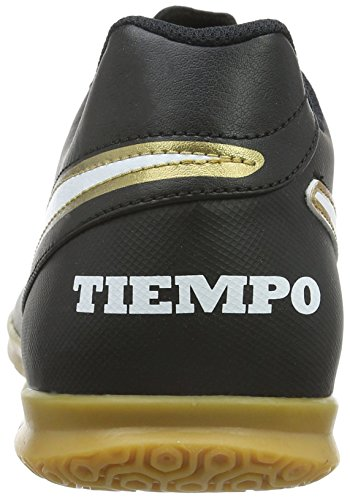 Nike Tiempo Rio Iii Ic, Scarpe da Calcio Uomo Nero (Black/White-Metallic GoldBlack/White-Metallic Gold)